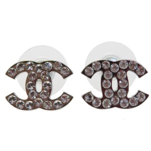 Chanel CHANEL CC Logos Pierce Silver Plated Accessories 09V France