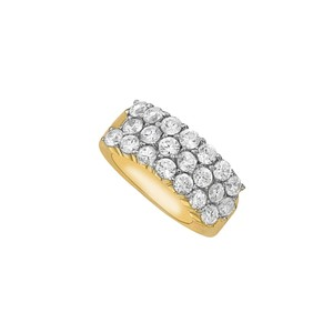 DesignerByVeronica April Birthstone CZ Cluster Ring in 14K Yellow Gold
