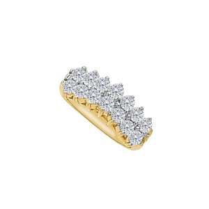 DesignerByVeronica Beautiful CZ Total Weight Ring in 14K Yellow Gold