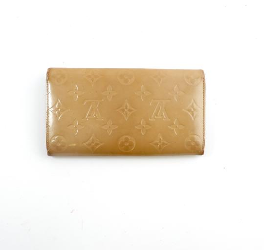 Louis Vuitton Sarah Vernis Monogram Patent Leather Long Clutch Wallet
