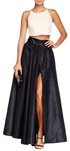 TOV Holy Widow Organza Sweeping Maxi Skirt Black