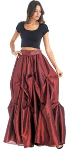 TOV Holy Gathered Maxi Skirt Wine