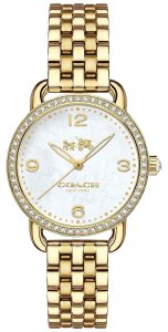 Coach Coach Women's Delancey Gold Stainless Steel Bracelet Watch 28mm