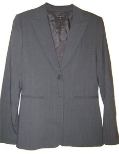Elie Tahari Tahari dark gray w/blue pinstripe pant suit- 2 pc set