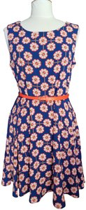 Ezra Floral Retro Flare Belted Dress
