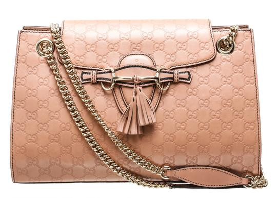 699584d51 gucci emily 486641 rose beige guccissima leather shoulder bag. TRADESY