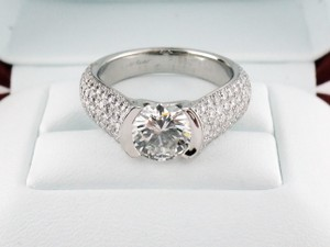 Cartier Platinum 2.66ct Tw Diamond Solitaire with Accents Engagement Ring