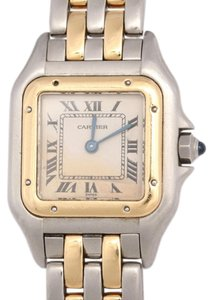 Cartier GOLD & STAINLESS STEEL TWO TONE LADIES PANTHERE WATCH 22MM