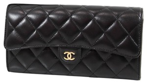 Chanel NEW CHANEL Classic Gusset Leather Flap Wallet