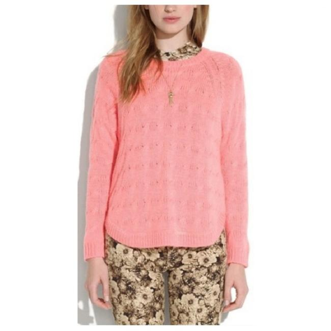 Preload https://img-static.tradesy.com/item/24273026/madewell-cutaway-cable-knit-neon-pink-coral-sweater-0-0-650-650.jpg