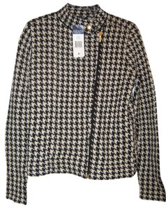 Chaps Black/white Houndstooth Jacket