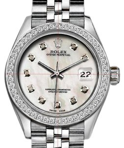 Rolex 36mm Datejust with Diamond White MOP Dial and Custom Diamond Bezel