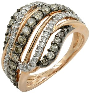 Gavriel's Jewelry Champagne Diamonds Rose Gold Cross Over Ring 1.00 cts