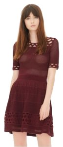 Sandro Holiday Rare Lace Textured Fit And Flare Dress