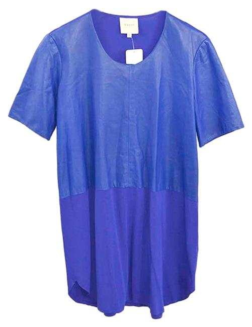 Item - Blue Leather #131-47 Short Night Out Dress Size 12 (L)