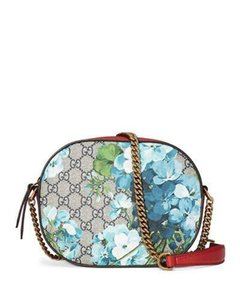 Gucci Chain Floral Blooms Leather Cross Body Bag
