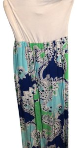 blue and green Maxi Dress by Francesca's