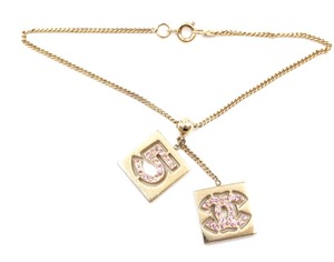 Chanel CC crystals bracelet chain gold hardware