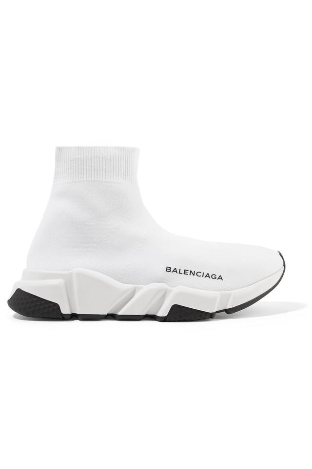 7dbd94b3005a Balenciaga Speed Logo-print Stretch-knit High-top Sneakers Sneakers ...