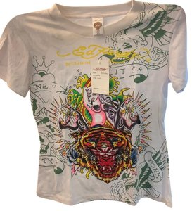 Ed Hardy T Shirt white with many colors