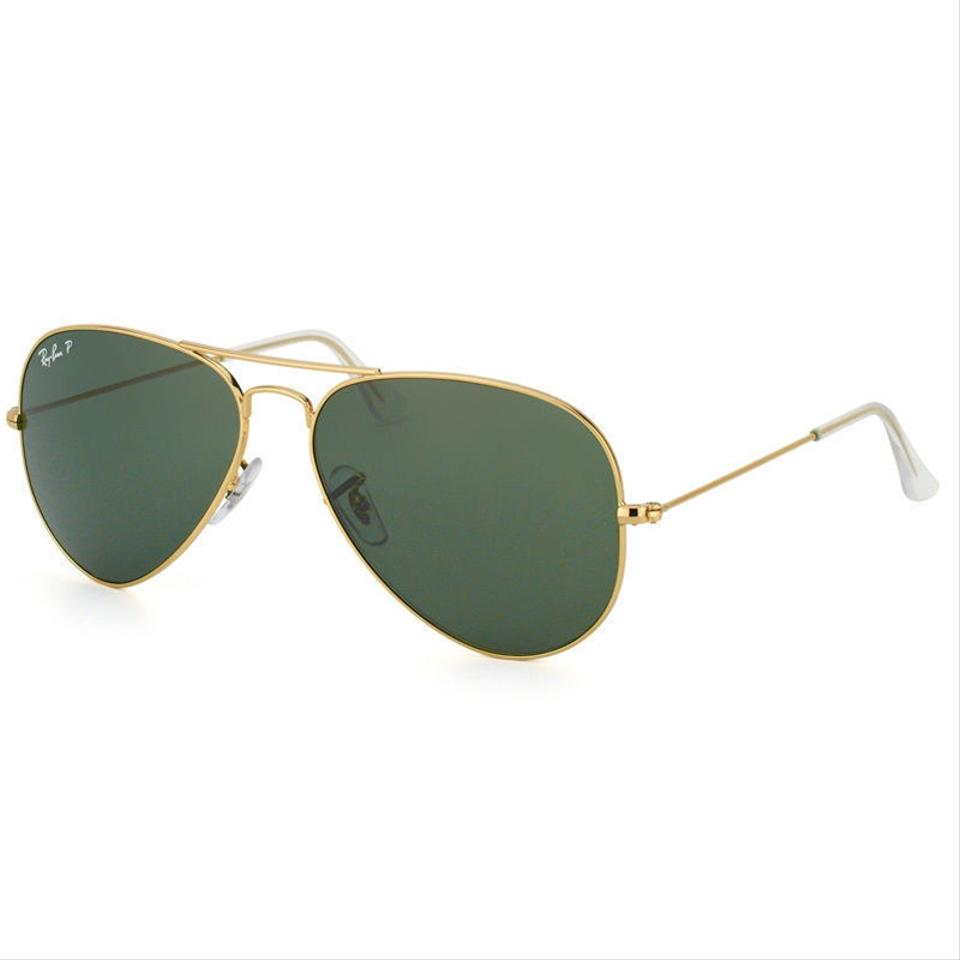 Ray-Ban Gold Frame Pilot Style Unisex Rb3025 001 58 Green Classic G-15  Polarized Lens Sunglasses 5ea0817af400