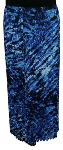 Peter Nygard Maxi Skirt BLACK/BLUE