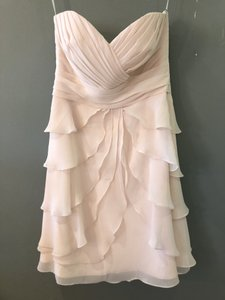 Allure Bridals Baby Pink Chiffon 1327 Formal Bridesmaid/Mob Dress Size 8 (M)