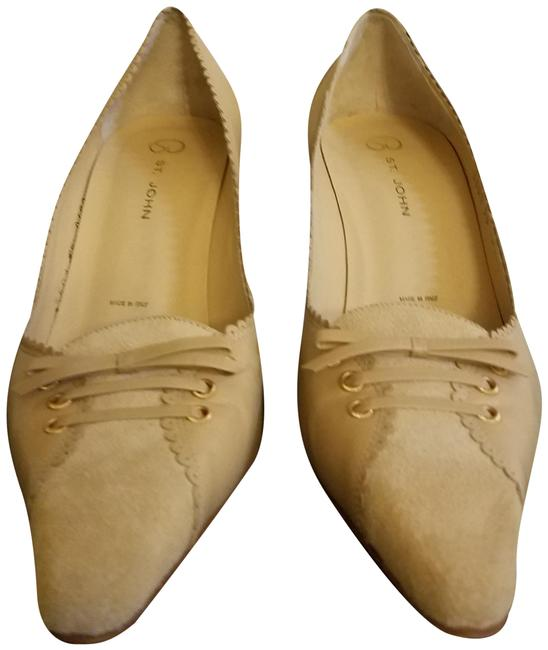 Item - Tan Vintage Suede and Leather Pumps Size US 8 Regular (M, B)