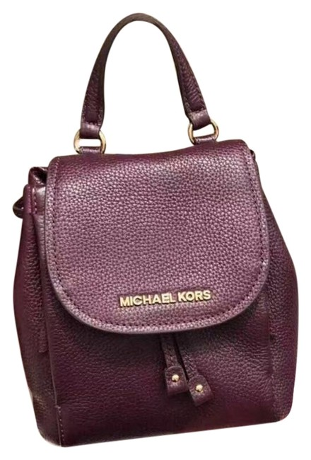 Item - Backpack Riley Small Flap Purple Leather Cross Body Bag
