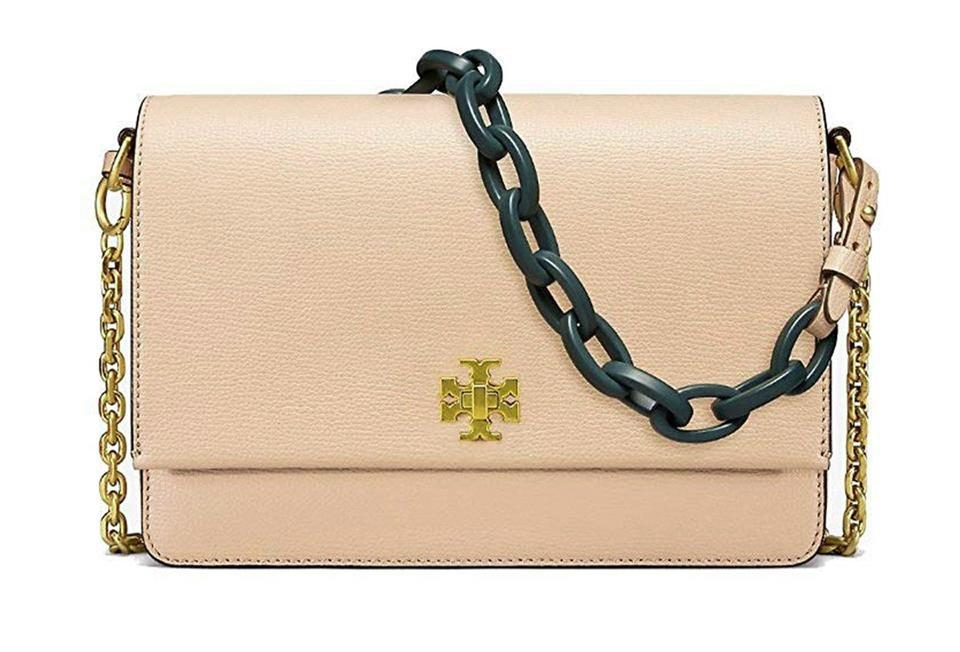 7ea65a3e17a Tory Burch Kira Perfect Sand Double-strap Mini Beige Leather Cross ...
