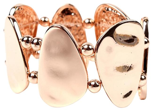 Item - Rose Gold Hammered Cuff New Bracelet