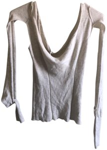 Vivienne Westwood Fall Sexy Cut-out Couture Top Beige / White
