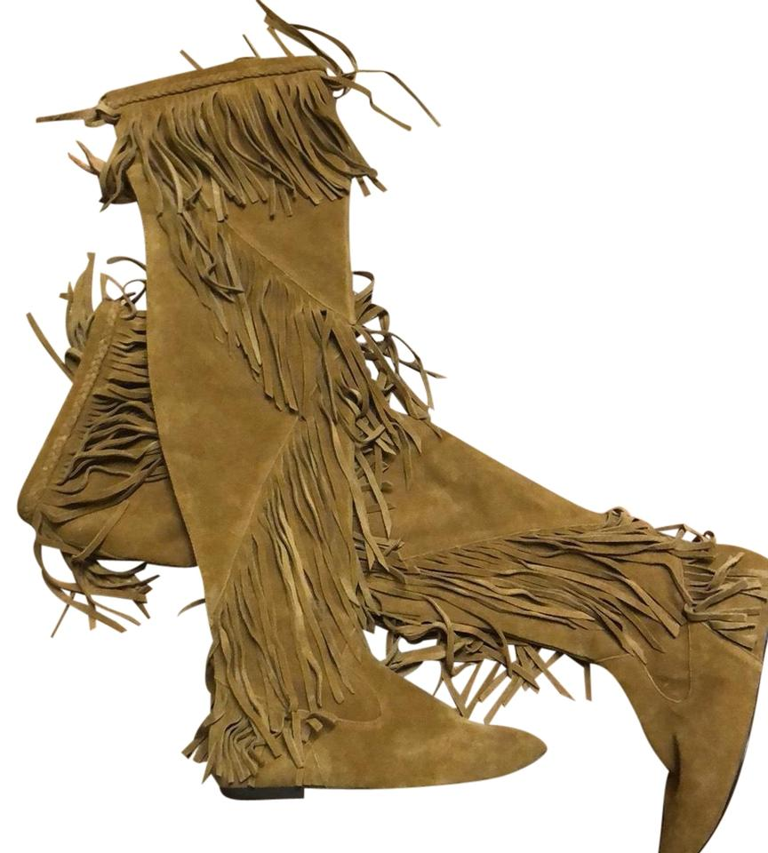 998a1c789 Sam Edelman Tan Fringe Boots Booties Size US 6.5 Regular (M