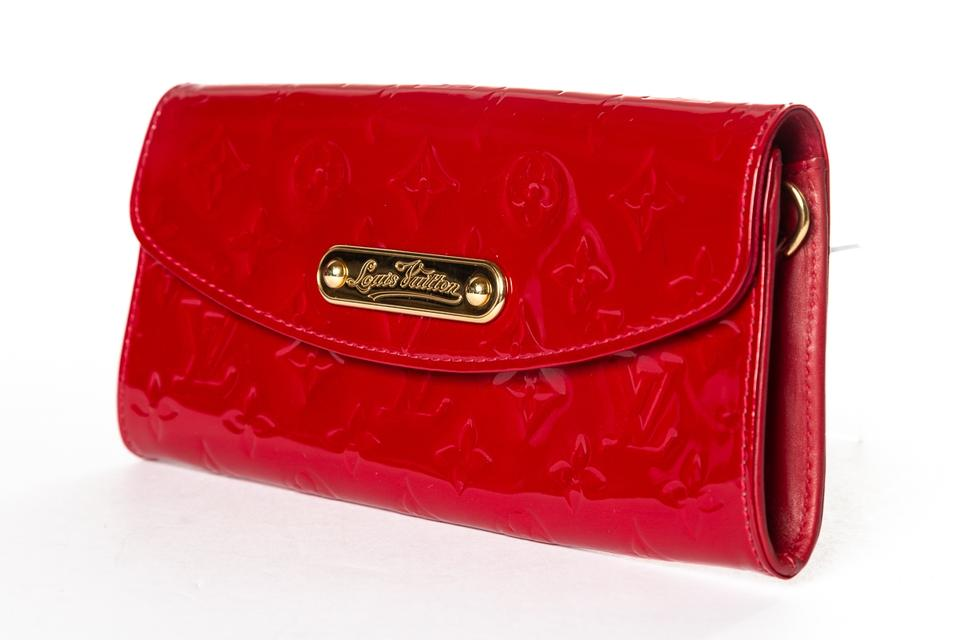 321df2e31bee Louis Vuitton Vernis Monogram Sunset Boulevard Clutch Red Patent Leather  Baguette - Tradesy