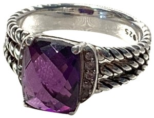 David Yurman David Yurman Purple Petite Wheaton Amethyst Diamond Ring