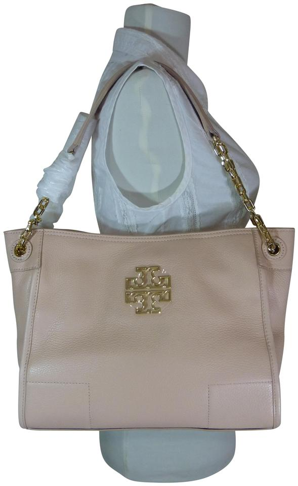 6b6927f0641 Tory Burch Britten Light Small Slouchy Pink Leather Tote - Tradesy