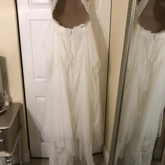 Watters & Watters Bridal Off White Lace Jewel Net A-line Gown (Willowby Feminine Wedding Dress Size 10 (M) Image 1