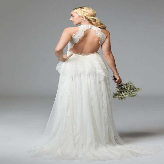 Watters & Watters Bridal Off White Lace Jewel Net A-line Gown (Willowby Feminine Wedding Dress Size 10 (M) Image 11
