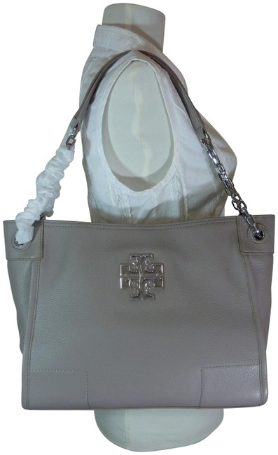 Item - Bag Britten French Small Slouchy Gray Leather Tote