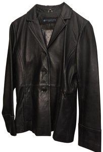 Kenneth Cole Reaction Black Leather Blazer