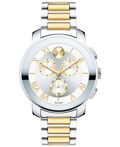 Movado Bold Two Tone Stainless Steel Chronograph 3600280