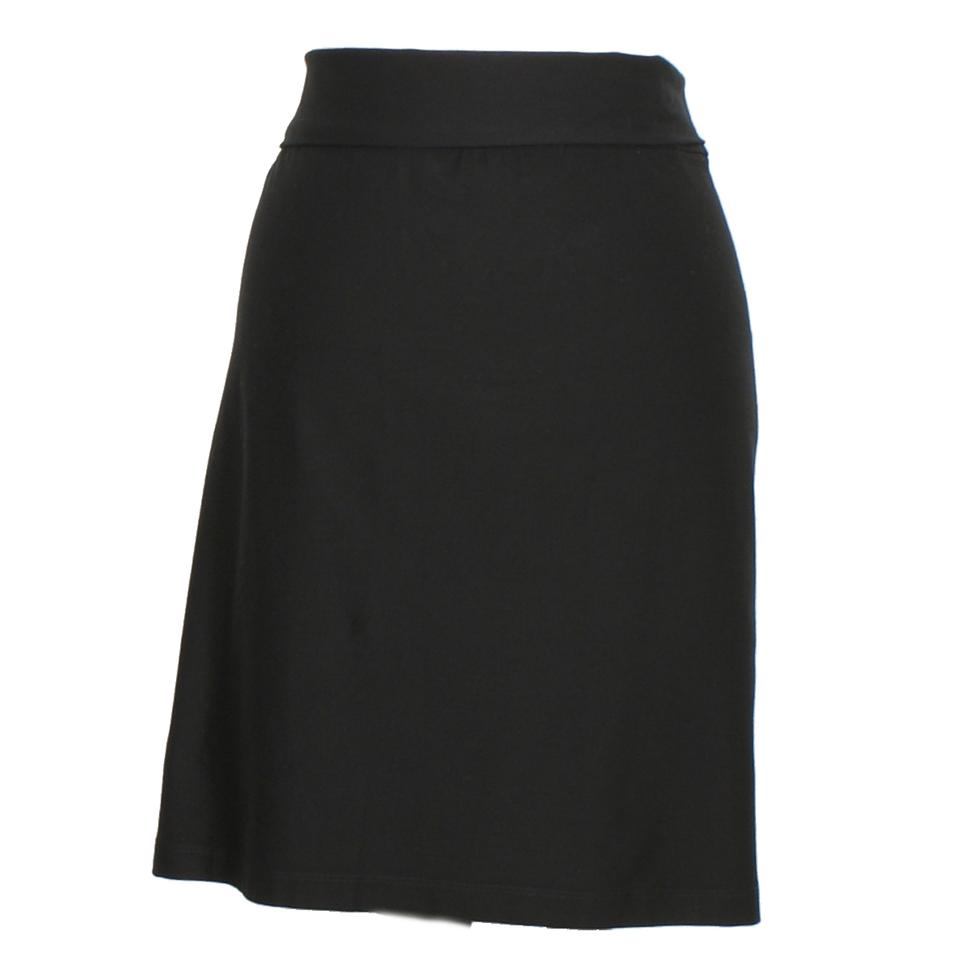 31a201a0a09 Eileen Fisher Black Stretch Crepe Foldover Short 3x Skirt Size 26 ...