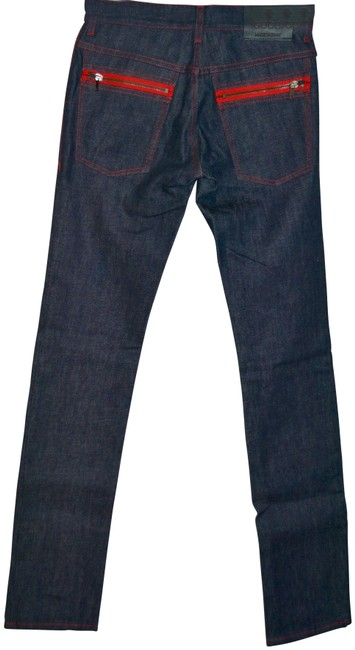 Item - Blue Medium Wash Mid Pants Us 8 Eu 44 Relaxed Fit Jeans Size 32 (8, M)