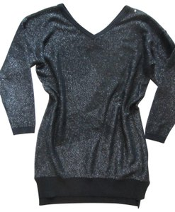 Diesel short dress Black Metallic Sweater Holiday Sweaters on Tradesy