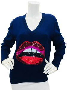 Markus Lupfer Sequins Lips Colors Sweater