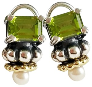 Lagos LAGOS CAVIAR PERIDOT & PEARL EARRINGS