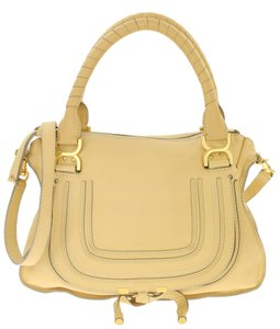 Chloé Leather Satchel in Beige