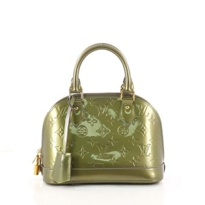 Louis Vuitton Vernis Satchel in metallic green