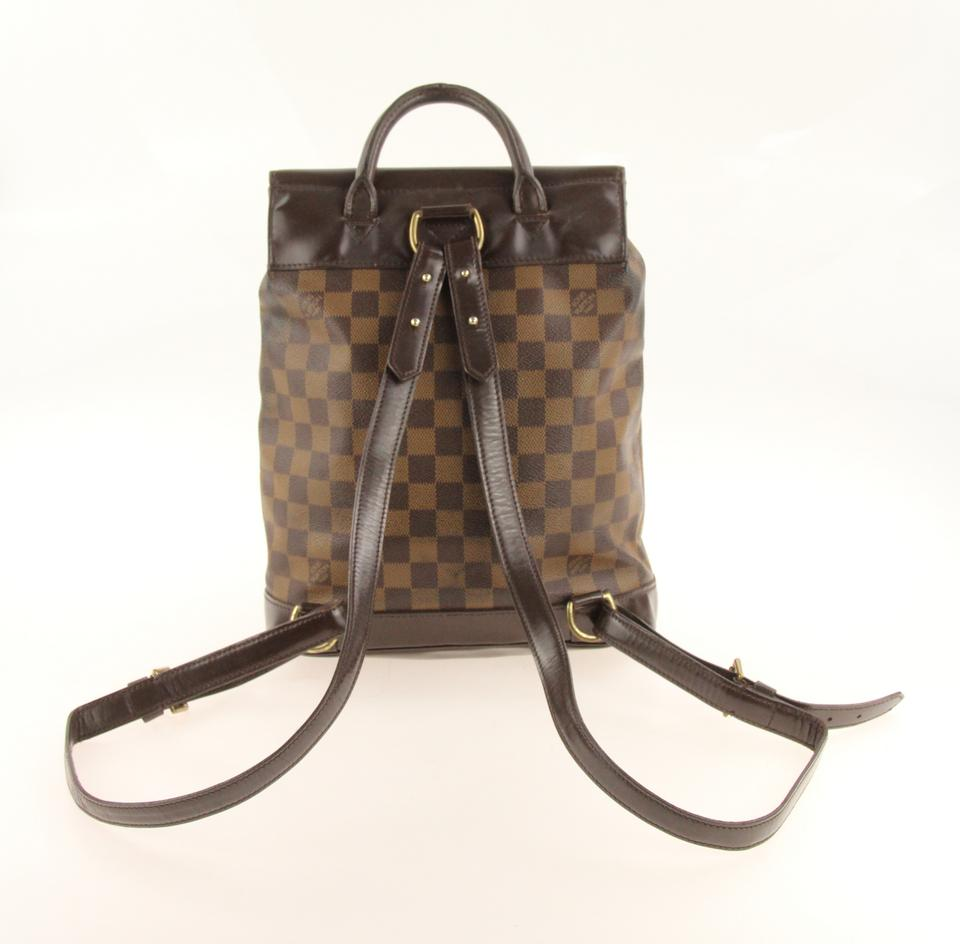 d942c9b8be96 Louis Vuitton Vintage Rucksack Soho Damier Canvas Backpack Image 11.  123456789101112