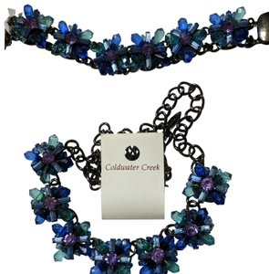Coldwater Creek Crystal Blossom long necklace